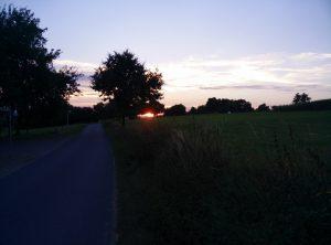 Sonnenuntergang auf der Momarter Höhe