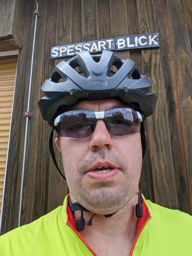 Selbstporträt nach Radtour